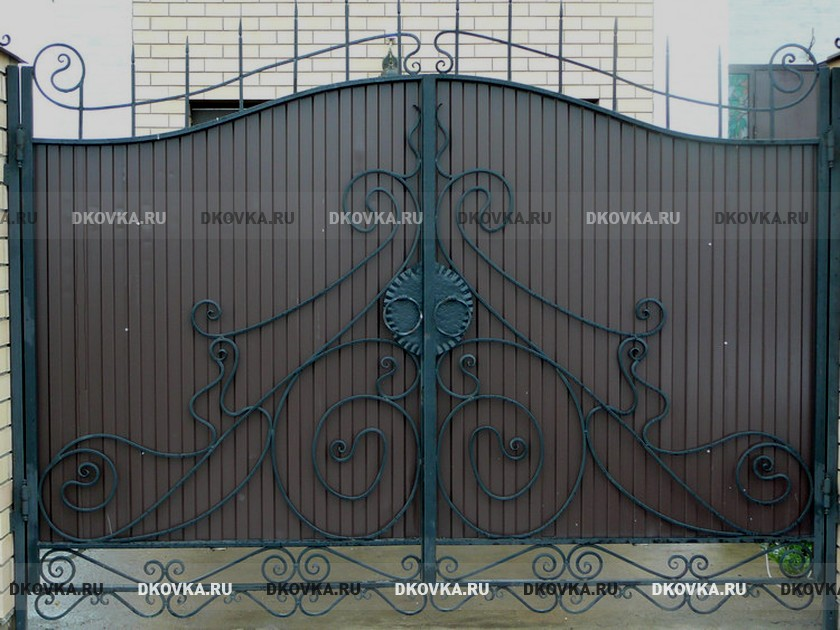 Железные ворота фото каталог ворота из профнастила и заклепочник